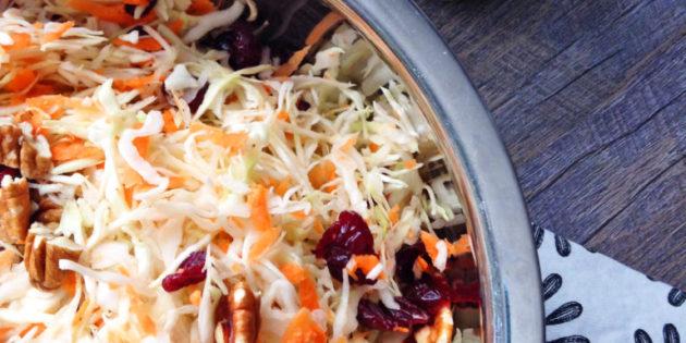 easy coleslaw salad